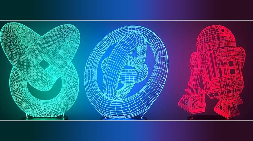 3D LED ламби